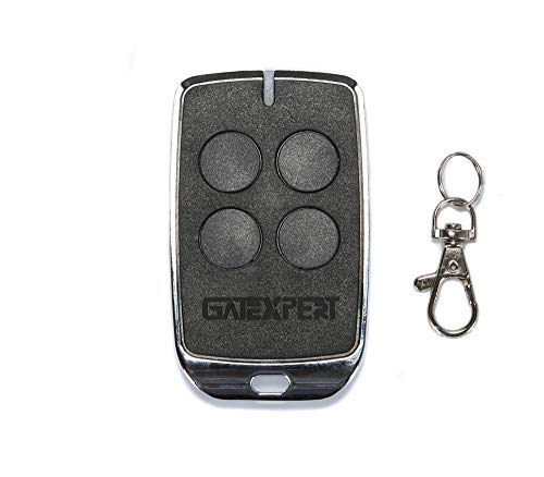 GATEXPERT Remote Control for Sliding Gate Opener 4 Buttons Switch with Keychain Battery 433.92MHz Black Mini Remote Control Transmitter (1 Panel)