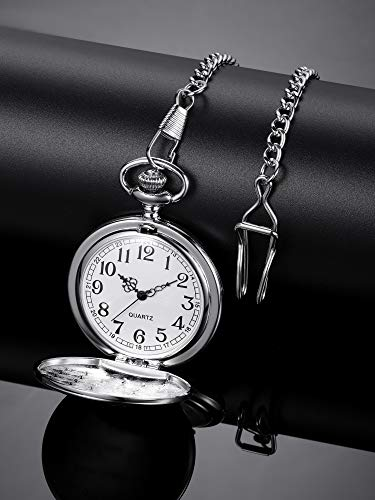Hicarer Grandfather Pocket Watch for Father's Day Christmas Birthday, Personalized Gift for Grandfather- Never Forget That, I Love You Forever