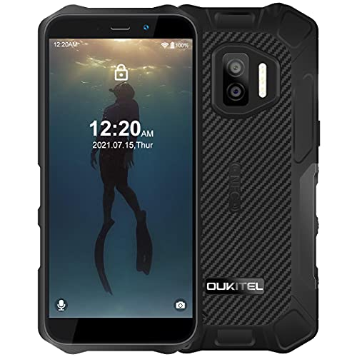 OUKITEL WP12 Pro (2021) Móvil Libre Resistente Android 11, 4+64GB Impermeable IP68 Rugged Smartphone, Telefono Movil Robusto Dual 4G, IP68 IP69K, 4000 mAh, Cámara Triple de 13 MP, Face ID/NFC