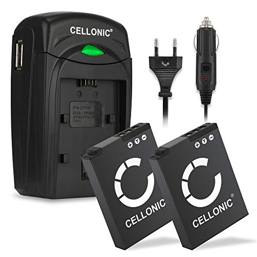CELLONIC 2X Akku kompatibel mit Nikon CoolPix A900 W300 S9900 S9700 S9500 S9300 S9100 S8200 S6300 AW130 AW100s AW110s Keymission 170 360 Ersatzakku EN-EL12 Ladegerät MH-65 KFZ Ladekabel Auto Batterie