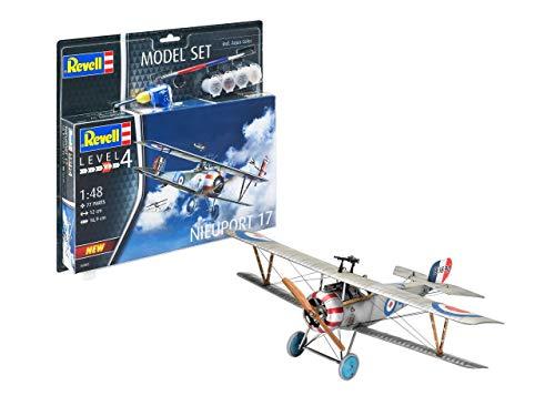 Revell REV-63885 Model Set Nieuport 17 Modellbausatz + Zubehör, Mehrfarbig, 1/32