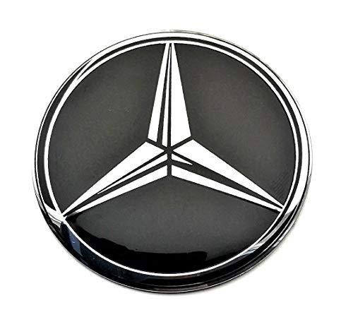 4 Rad mitte kappen aufkleber 70 mm MercedesBenz embleme gewölbt logo selbstklebendes nabendeckel felgendeckel