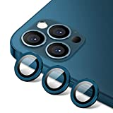 [Set of 3]Tamoria Eagle Eyes Series Camera Lens Protector Compatible with iPhone 12 Pro Max 6.7' Premium Tempered Glass Aluminum Alloy Lens Screen Cover Film Accessories Designed for iPhone 12 Pro Max, Blue