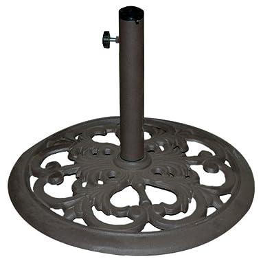 Tropishade 30-Pound Bronze Powder-Coated Cast Iron Umbrella Stand