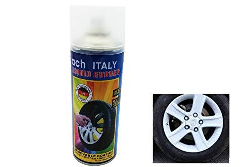 Spray vernice pittura cerchi auto pellicola removibile bianco 40 auto moto 400g