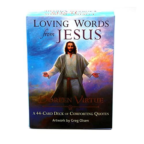 M STAR Palabras amorosas de Jesús Oracle Tarjeta, Oracle Deck se USA para adivinar y predecir el Futuro, Juegos de Cartas de Mesa adecuadas para Fiestas.