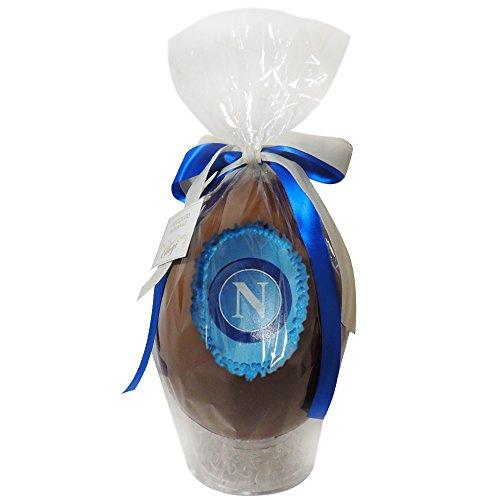 Uovo di Pasqua ARTIGIANALE del NAPOLI con SORPRESA da 350 grammi - Cioccolato al latte Squadre di Calcio (Napoli, 350 gr)