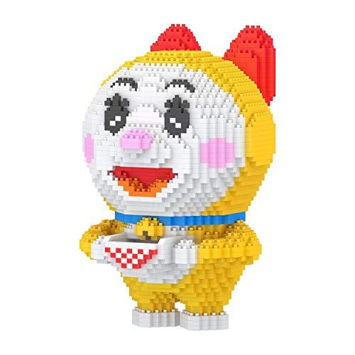 Zenghh Juego 3D Pixel Bloques modelo de juguete figura de dibujos animados Doraemon clásico Dorayaki Dorami Nano sistema del bloque DIY juguetes educativos Combo regalo for el cabrito y adulto (mayor