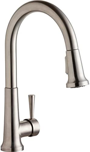 Elkay LK6000LS Single Hole Deck Mount Kitchen Faucet with Pull Down Spray and Forward Only Lever product image