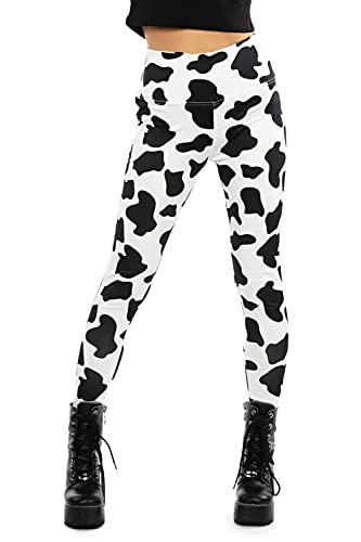 Tipsy Elves Cow Spotted High Waisted Leggings...