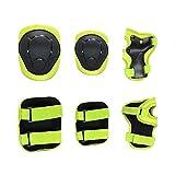 NINGXUE-MAOY Protect Knee Pad Gomito Pads Protezioni di Ingranaggi for Rollerblade Pattini a rotelle in Bicicletta BMX Bike Pattinaggio Sicurezza (Color : Yellow, Size : S)