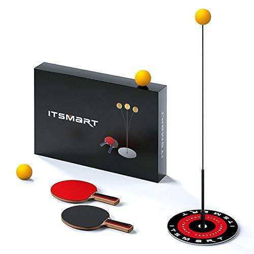 Childlike Tischtennistrainer Set mit 110 cm elastischem, weichem Schaft, 2 Tischtennispaddeln und 3 Tischtennisbällen, Freizeit Dekompressions Tischtennisball Trainingsset, Test auf opportune