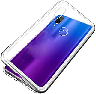 Oppo Realme 3 pro Case 360 Degree Full cover 2 Pieces Metal Frame magnetic Tempered Glass - Silver