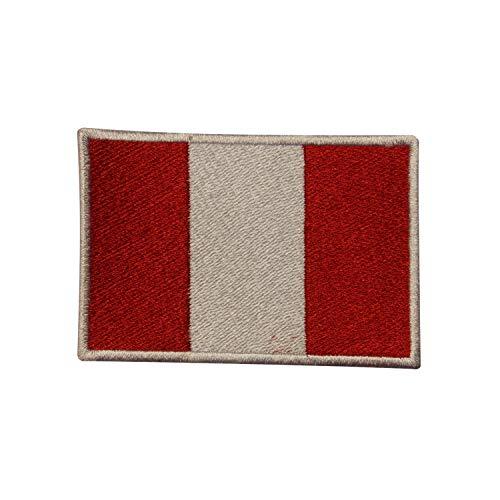 Parche bordado bandera nacional Perú coser planchar