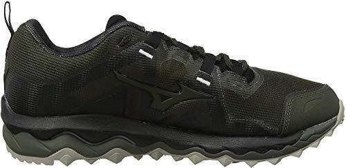 Mizuno Wave Mujin 6, Zapatillas de Trail Running para Hombre, Noir Argent, 44.5 EU
