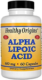 Healthy Origins Alpha Lipoic Acid 600 mg, 60 Capsules