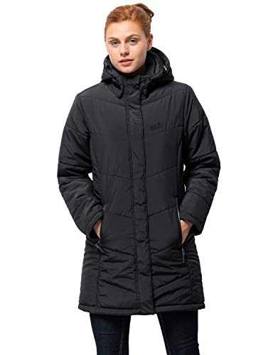 Jack Wolfskin Damen Mantel Svalbard Coat Women, black, XXL