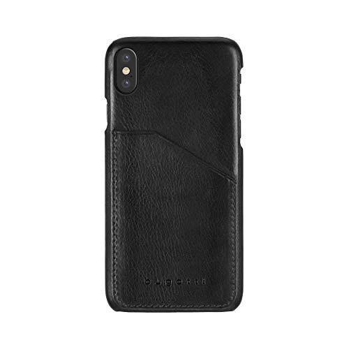 Bugatti Londra Premium - Funda de Piel sintética para iPhone X XS, Color Negro