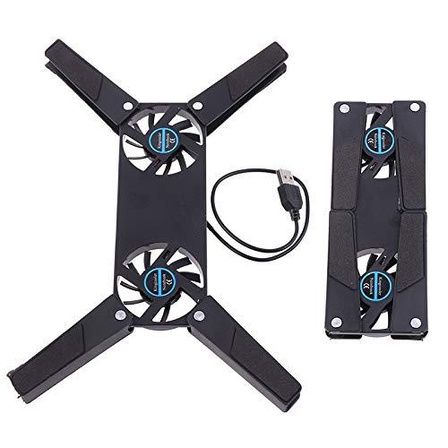 LONGJUAN-C CPU Enfriador Plegable USB Fan de refrigeración Mini Octopus Cooler Pad Soporte Tranquilo Doble Fans para portátil portátil de 7-15 Pulgadas Ventilador