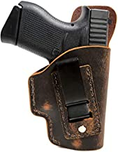 Muddy River Tactical Glock 43 - Soft Sided Leather Inside The Waistband (IWB) Concealed Carry Holster (Right Handed)