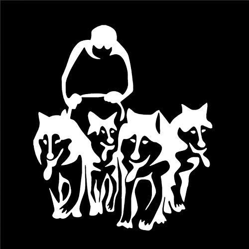 DSRLO Autoaufkleber 11,3 cm * 13 cm Husky Dog Huskies und Schlitten Schlitten Vinyl Auto Kunst Aufkleber Aufkleber