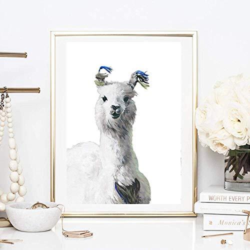 Kunstdrucke Din A4 ungerahmt Lama Alpaka Anden Südamerika Aquarell Gemälde Druck, Poster, Bild, Deko, Geschenk