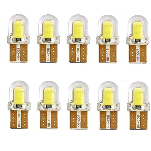 10pcs Llevó Bulbo Estacionamiento Automático Cuña Obtención del Certificado De La Lámpara De Sílice Luz Blanca Brillante Bombillas Led W5w T10 194 168 W5w