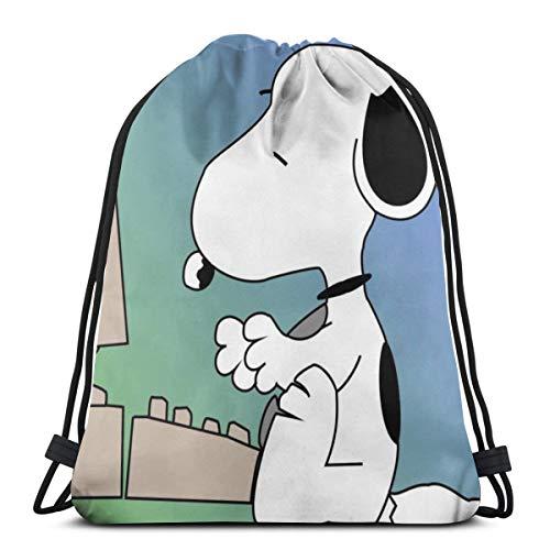 41cpJhJu5rL - Snoopy Jugar Ordenador Bolsa de deporte Bolsa Mochila Deportiva Bolsa de tela de poliéster Plegable Bolsas de Deporte…