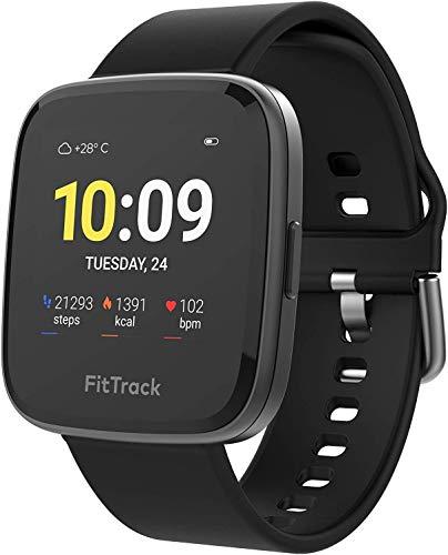 FitTrack Atria Sporthorloge - Fitness Smartwatch met 7+ dagen Batterij - Activity Tracker voor Mannen, Vrouwen & kinderen - Monitor oa. hartslag, slaap en ademhaling en volg voortgang in de app