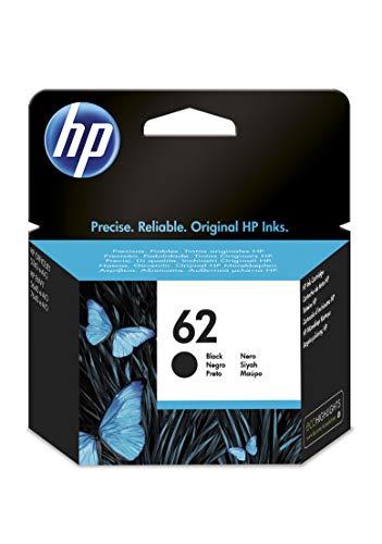 HP 62 C2P04AE, Negro, Cartucho Original de Tinta, ompatible con impresoras de inyección de tinta HP ENVY 5540, 5640, 7640;OfficeJet 200, 250, 5740