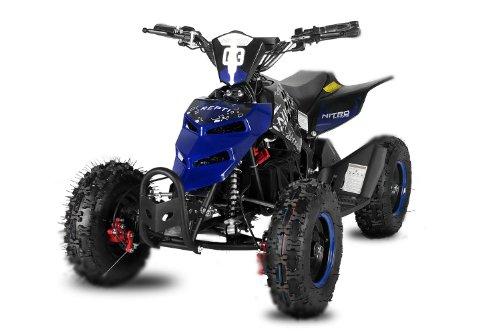 Nitro Motors Eco Repti 800W Miniquad Elektroquad ATV Kinderquad 3 Stufen Drossel (Blau)