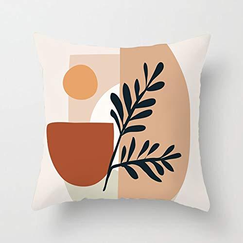 PPMP Pintura Abstracta Moderna Funda de Almohada decoración del sofá del hogar Funda de Almohada geométrica Funda de cojín Funda de cojín A21 45x45cm 2pcs