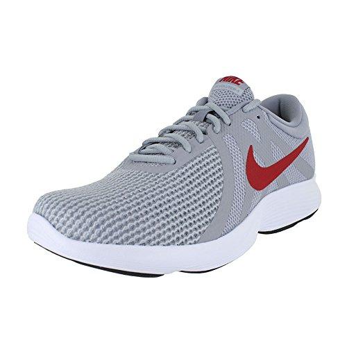 Nike Herren Revolution 4 4E Laufschuh, Wolf Grey/Gym Red-Stealth, 38.5 EU