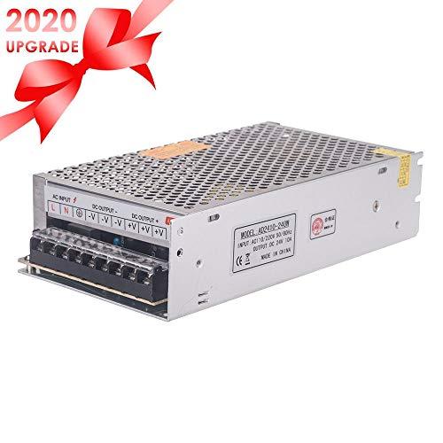 Docooler 24V 10A 240W Trafo Transformator Adapter Netzteil Schaltnetzteil Stromversorgung für LED Beleuchtung 3D Drucker mit DC 24V