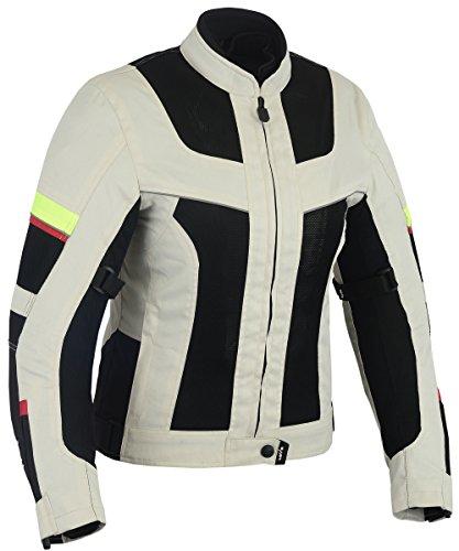 Chaqueta tricapa perforada de verano para moto (Mujer) (XL)