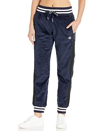 Champion Life Damen Corduroy Pant W/Reverse Weave Kordhose, Navy, Klein