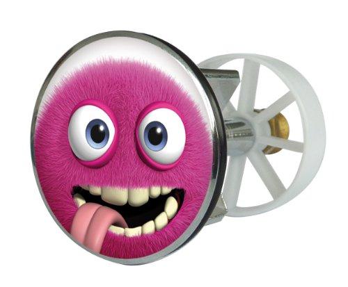 Waschbeckenstöpsel Design Monster Lolo | Abfluss-Stopfen aus Metall | Excenterstopfen | Abflussstöpsel | 38 – 40 mm | Stöpsel