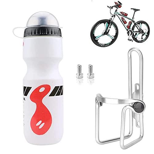 Sunshine smile Porte-bouteille pour vélo, porte-gobelet, VTT, vélo de course, vélo avec bouteille de 750 ml, léger porte-bouteille (blanc)