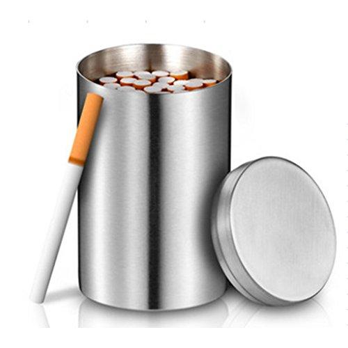 OWIKAR Étui à cigarettes en acier inoxydable pour grains de café, sucre, épices et cotons-tiges