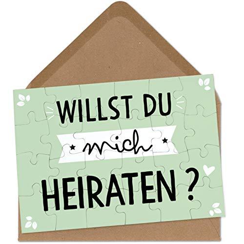 OWLBOOK Willst du Mich heiraten Puzzle mit Brief-Umschlag Geschenke Geschenkideen als Heiratsantrag zur Hochzeit & Verlobung