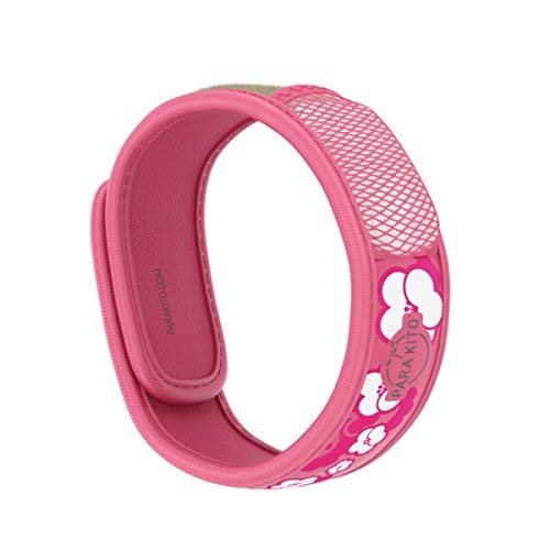 PARA'KITO Mosquito Insect & Bug Repellent Wristband - Waterproof, Outdoor Pest Repeller Bracelet w/ Natural Essential Oils (Sakura)