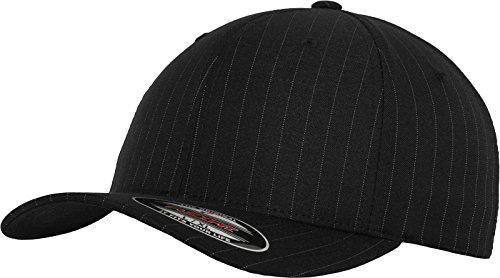 Flexfit Mütze Pinstripe - Gorra de náutica, Color Negro/Blanco, Talla DE: L/XL