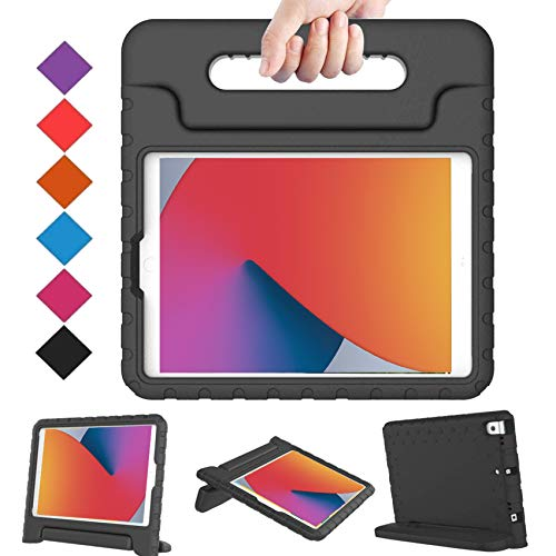 BMOUO Kids Case for iPad 10.2 2020/2019, iPad 10.2 Case, iPad 8th/7th Generation Case, Shock Proof Light Weight Convertible Handle Stand Kids Case for Apple iPad 10.2 inch 2020/2019, Black