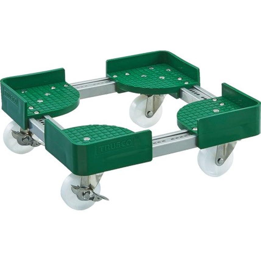 ホース収束否定するトラスコ 伸縮式コンテナ台車 内寸600-700X900-1000 S付 (1台) 品番:FCD6-6090-S