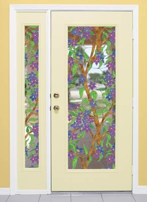 Biscayne Stained Glass See-Through Window Film - 24 in x 43 in