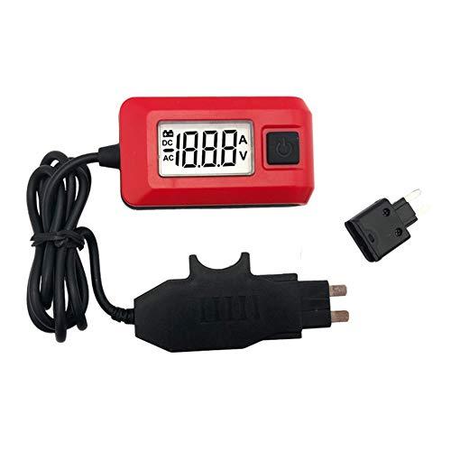 iSpchen Auto Multifunktionale Sicherungstester Kfz Sicherungsprüfgerät Tester Sicherungs Amperemeter Sicherungsprüfer AE150 12V Auto Stromprüfgerät Multimeter Diagnosewerkzeug Rot