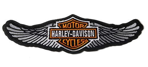 GZM Toppa Replica Harley Davidson Alado 25 x 8 cm con Termo Adesivo per Giacche Biker