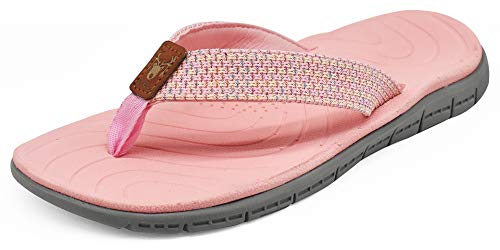 KuaiLu Chanclas Mujer Verano Playa Piscina Comodas Piel Sandalias Planas Caminar Ortopedicas Zapatos