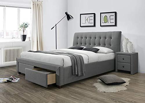 Carellia bed voor volwassenen, 2 personen, modern, 160 x 200 cm