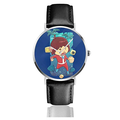Unisex Business Casual Alex Kidd In Miracle World Relojes Reloj de Cuero...